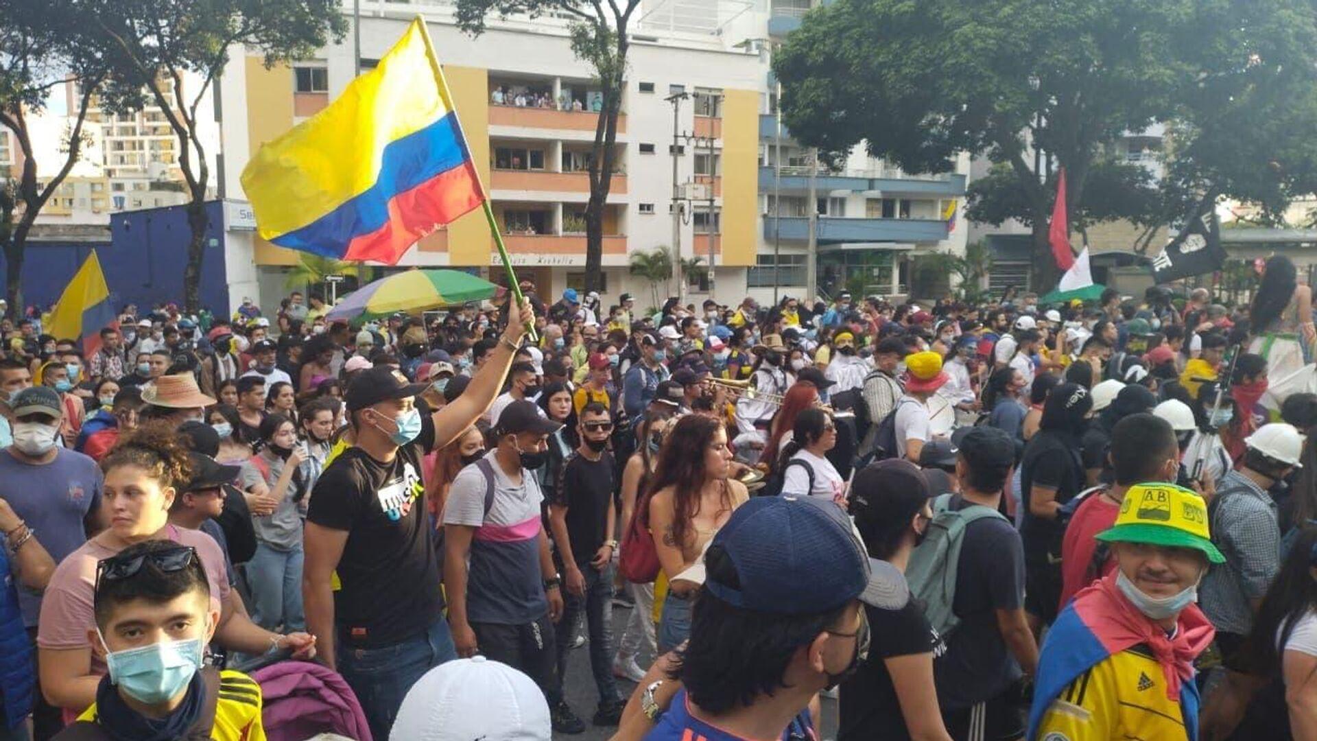 Manifestación en Bucaramanga, Colombia - Sputnik Mundo, 1920, 21.07.2021
