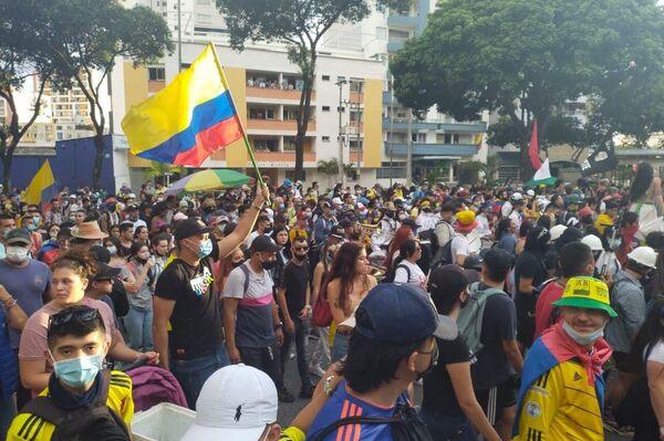 Manifestación en Bucaramanga, Colombia - Sputnik Mundo