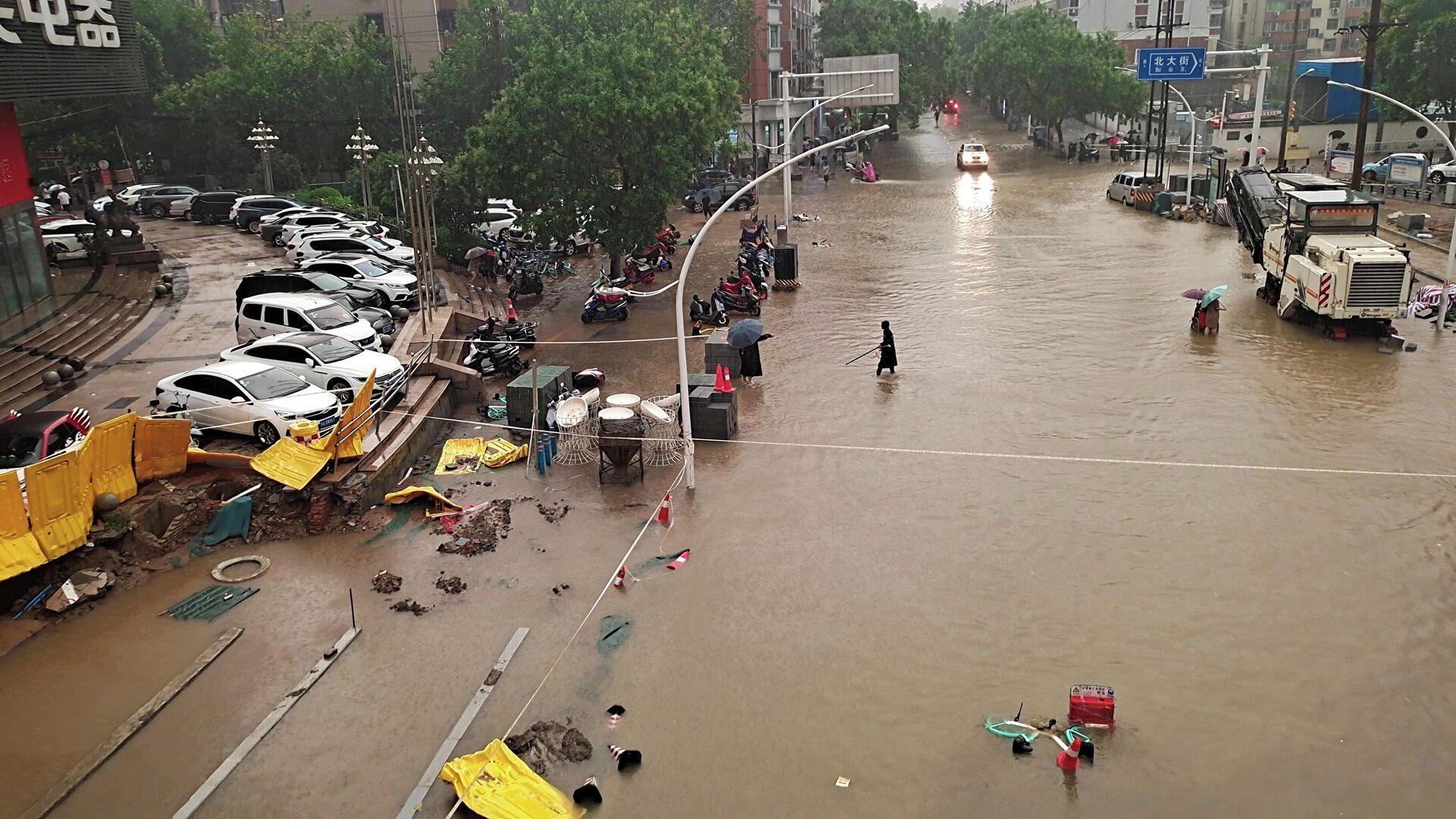 Inundaciones en China - Sputnik Mundo, 1920, 21.07.2021