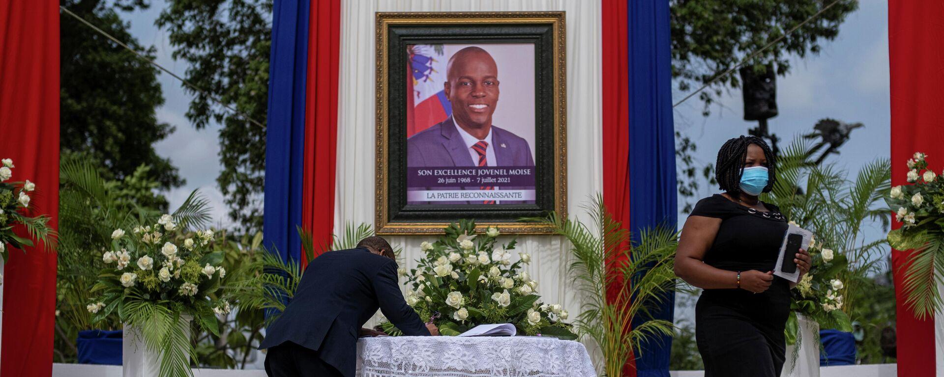 Ceremonioa en honor al expresidente de Haití, Jovenel Moise - Sputnik Mundo, 1920, 13.08.2021