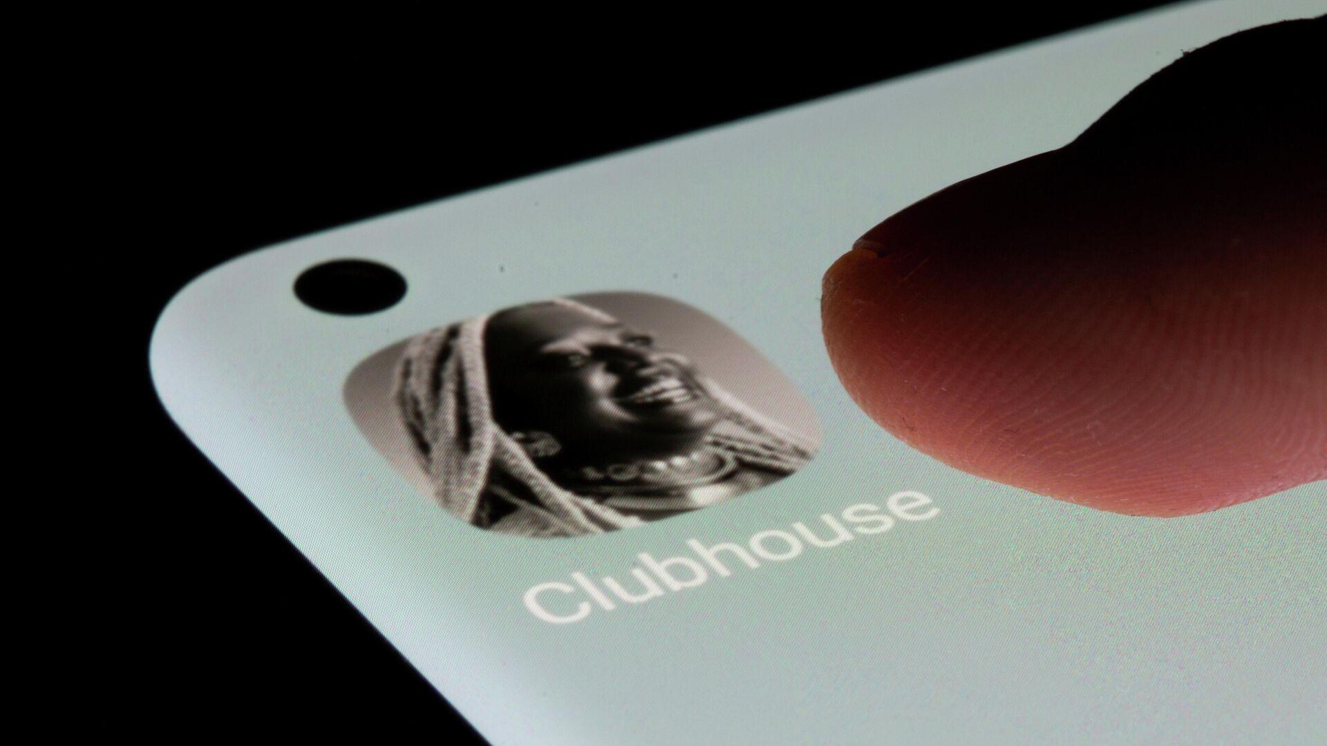 La aplicación de Clubhouse en un smartphone - Sputnik Mundo, 1920, 21.07.2021