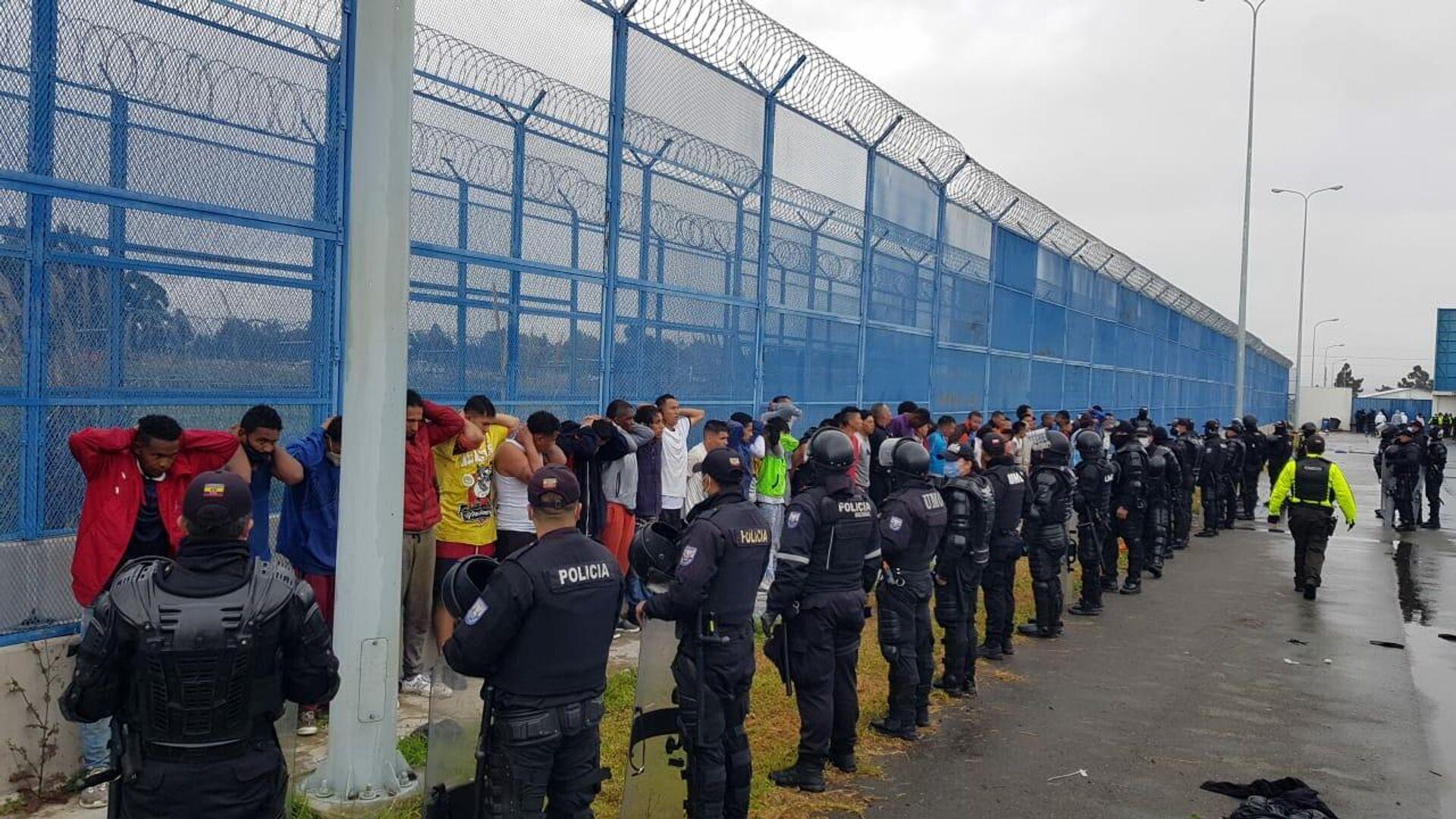 La Policía de Ecuador captura a reclusos que intentaban escapar  - Sputnik Mundo, 1920, 22.07.2021