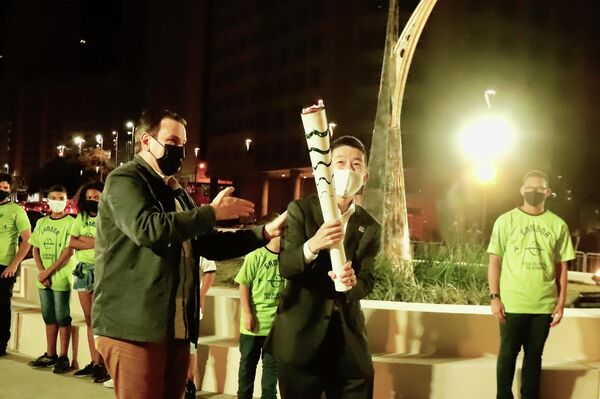 La llama olímpica en Río de Janeiro, Brasil - Sputnik Mundo