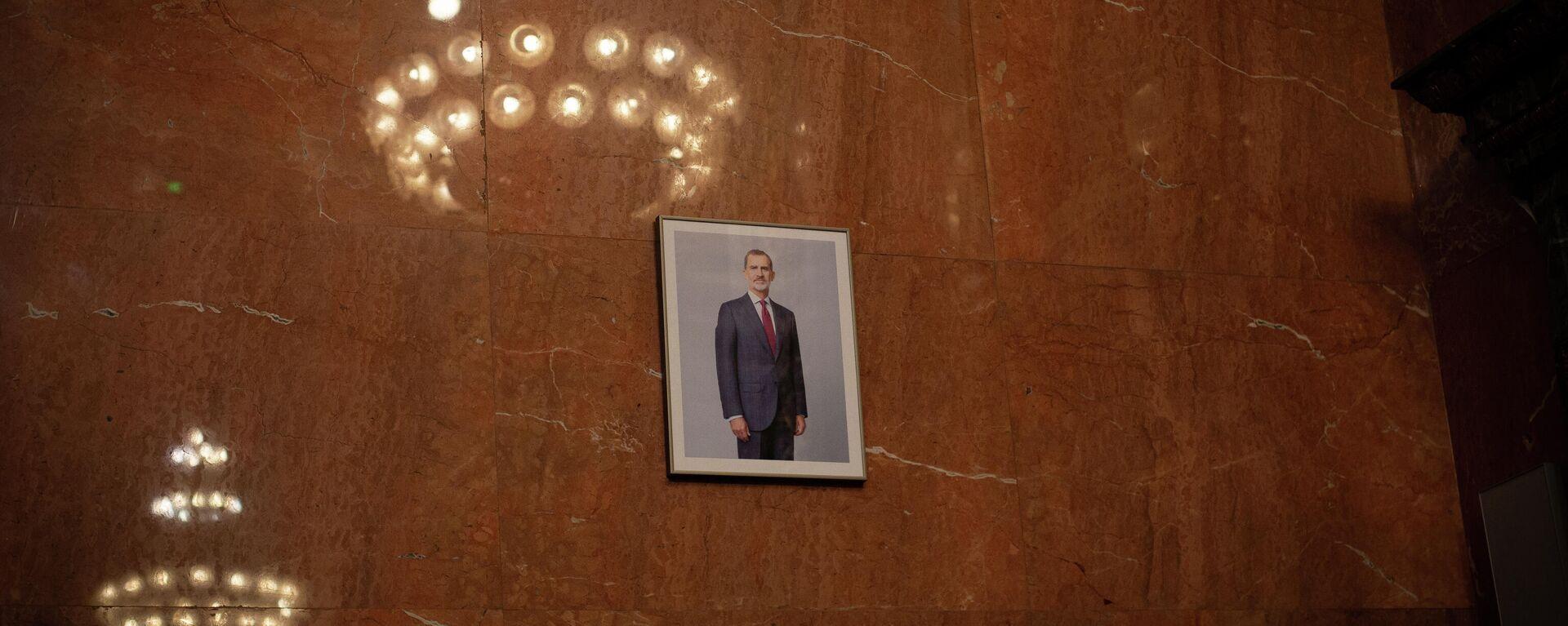 La imagen del Rey colocada en la sala de plenos del Ayuntamiento de Barcelona - Sputnik Mundo, 1920, 23.07.2021