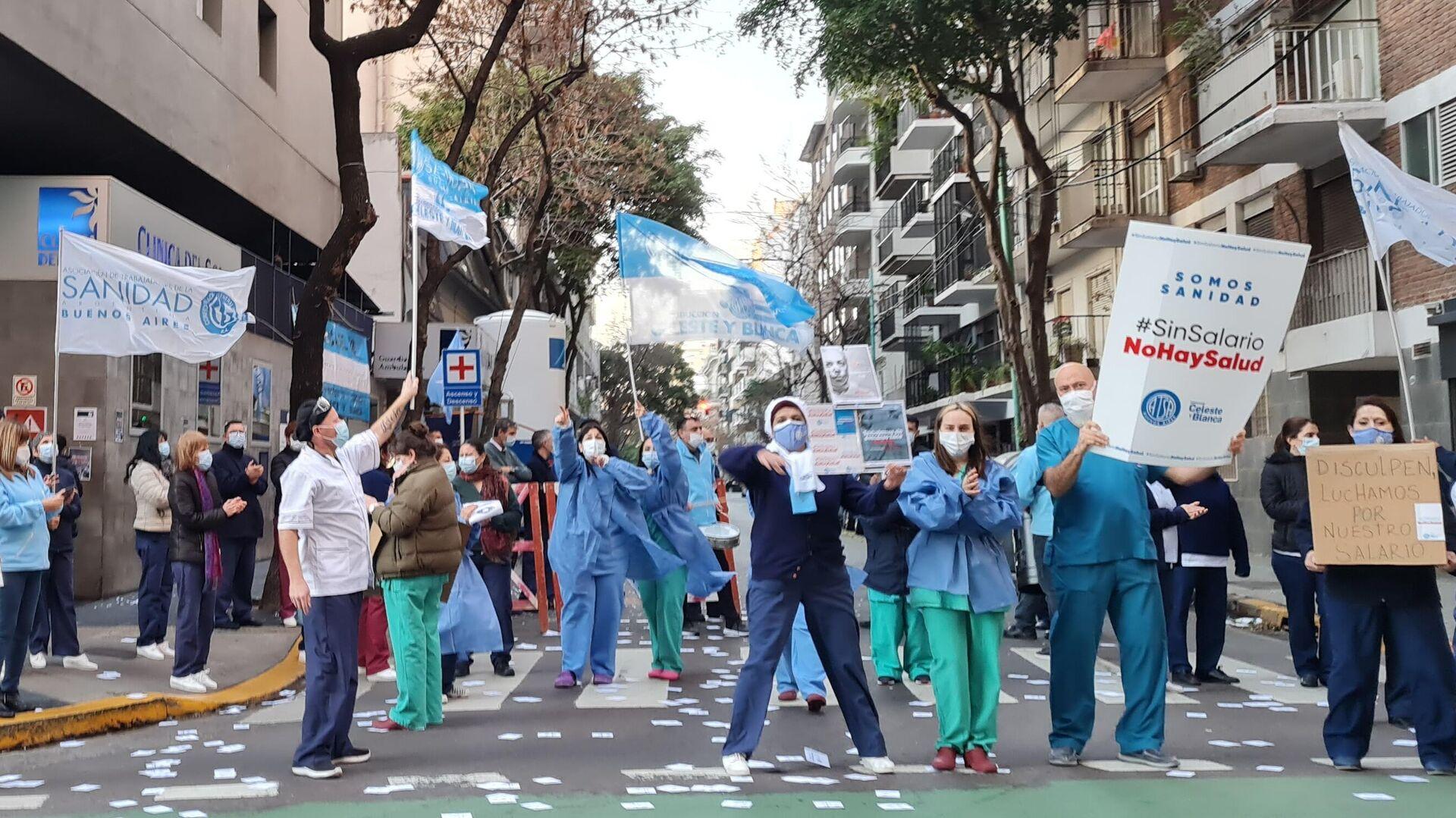 Protestas de trabajadores de la salud en Argentina - Sputnik Mundo, 1920, 23.07.2021