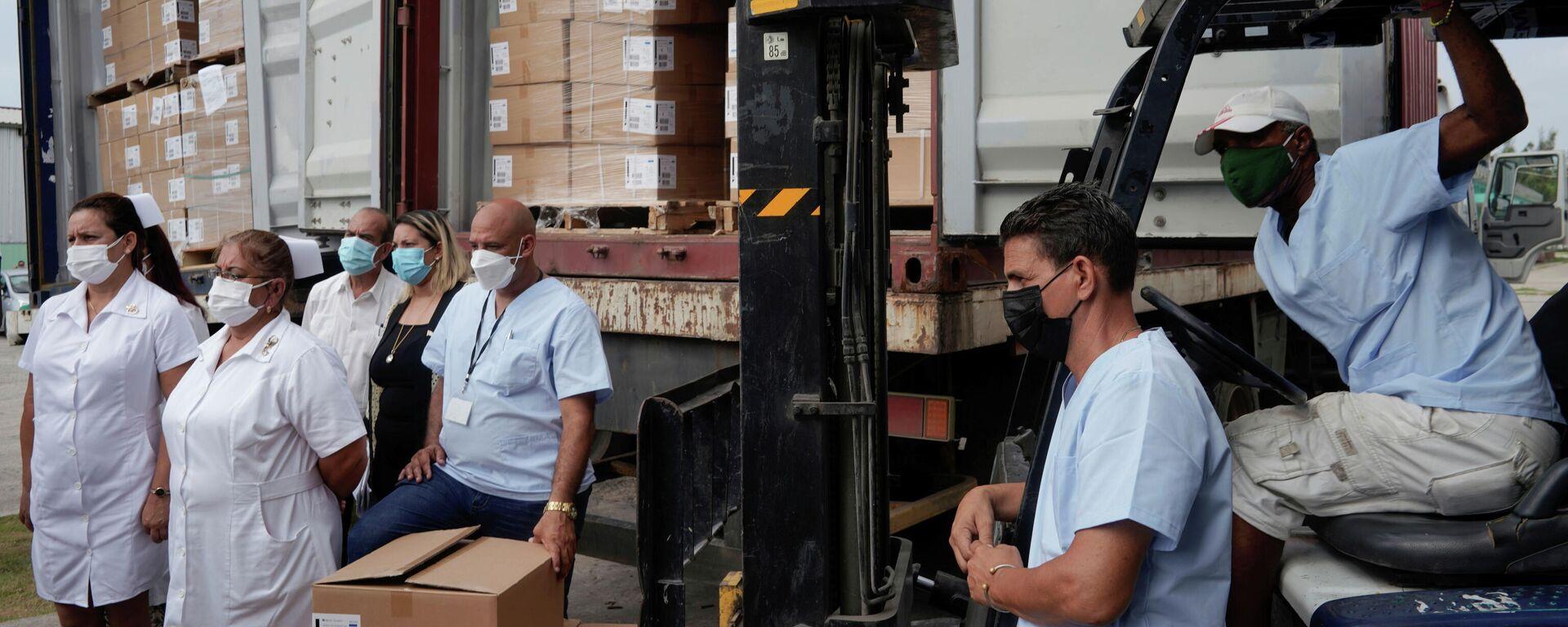 Cuba recibe un lote de jeringuillas donadas por el pueblo de EEUU - Sputnik Mundo, 1920, 23.07.2021