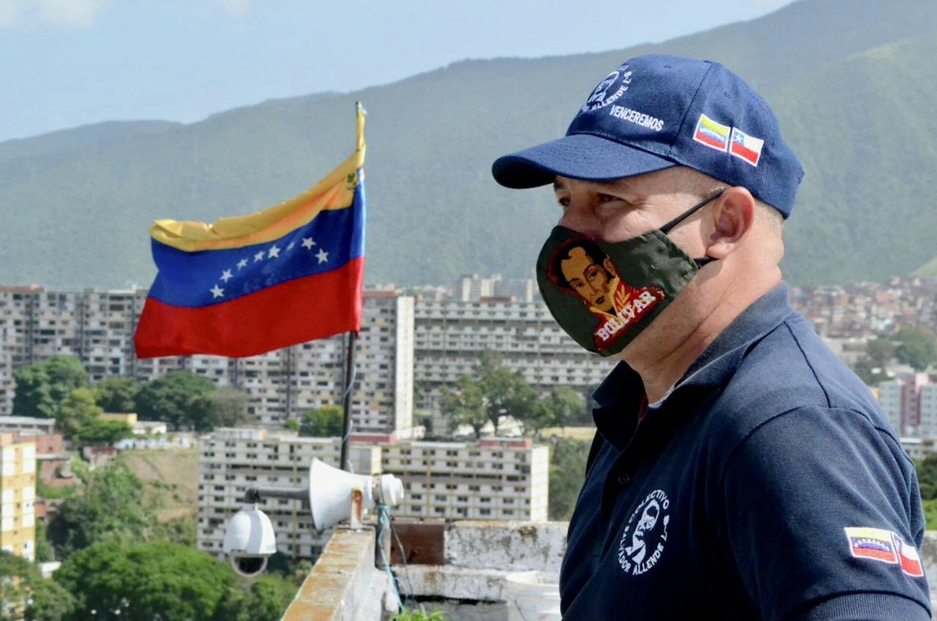 David Romero, líder del colectivo Salvador Allende del Barrio 23 de Enero - Sputnik Mundo, 1920, 23.07.2021