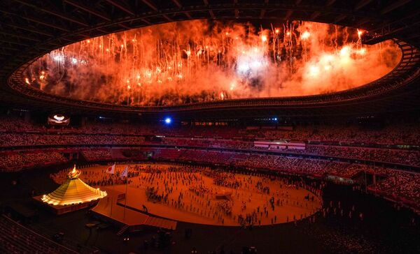 La ceremonia de apertura de los XXXII Juegos Olímpicos de Verano en Tokio.  - Sputnik Mundo