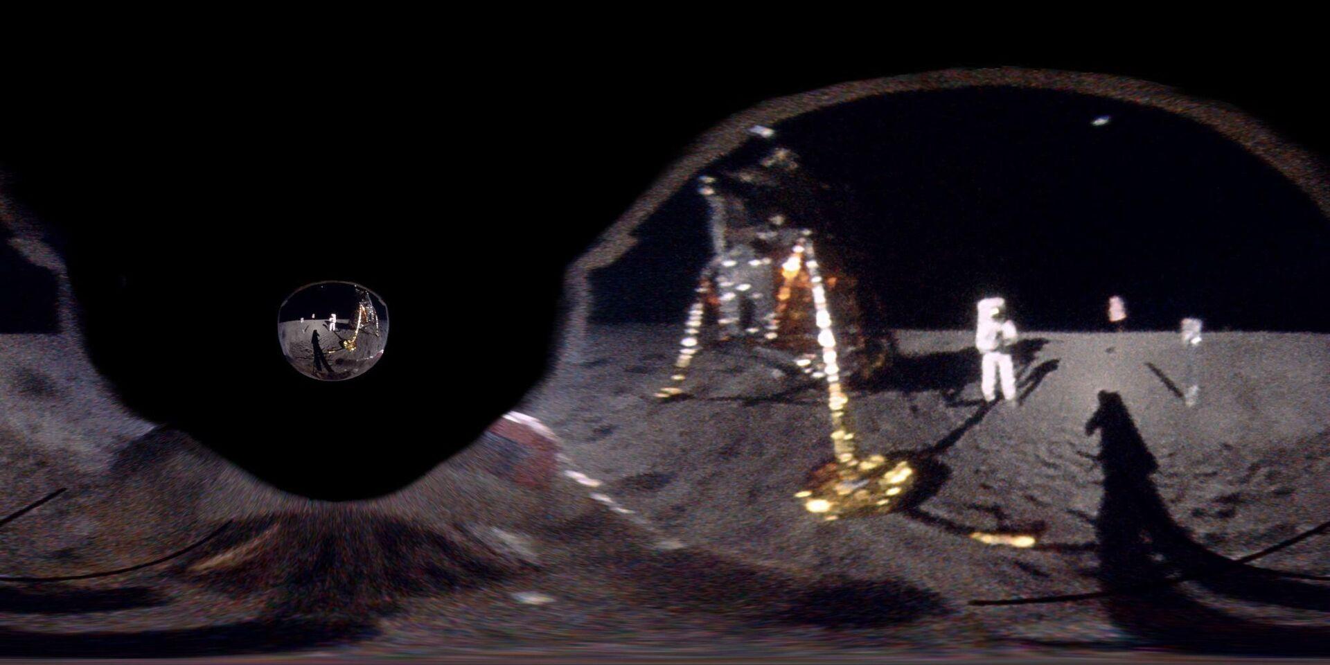 El reflejo de la Luna en el visor del astronauta Buzz Aldrin durante la misión del Apollo 11 - Sputnik Mundo, 1920, 24.07.2021