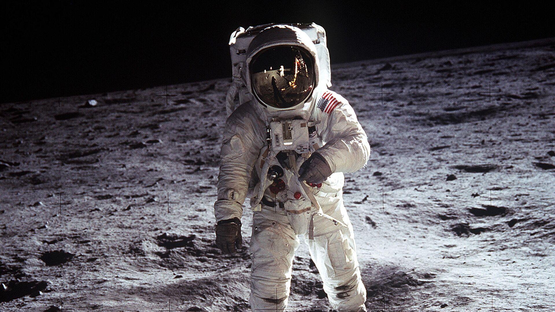 La icónica foto del Buzz Aldrin en la Luna en 1969 - Sputnik Mundo, 1920, 24.07.2021