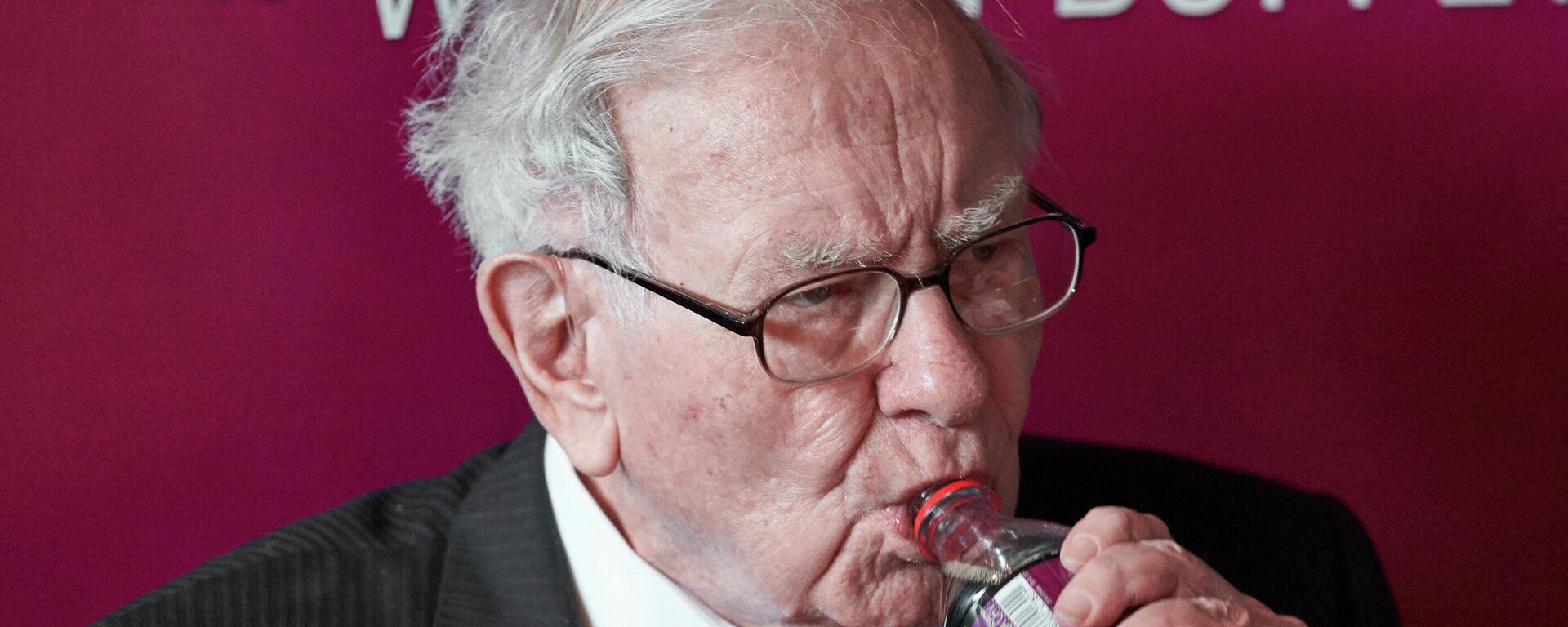 Investor Warren Buffett, enjoying a Coca-Cola in 2019 - Sputnik World, 1920, 2021.07.24