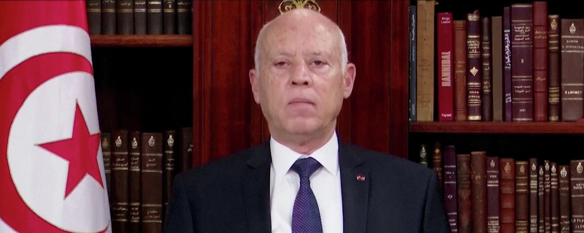 Kais Saied, presidente de Túnez - Sputnik Mundo, 1920, 26.07.2021