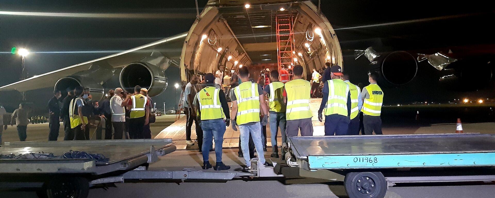 Aviones rusos An-124 Ruslan arriban a Cuba con cargamento de ayuda humanitaria - Sputnik Mundo, 1920, 30.07.2021