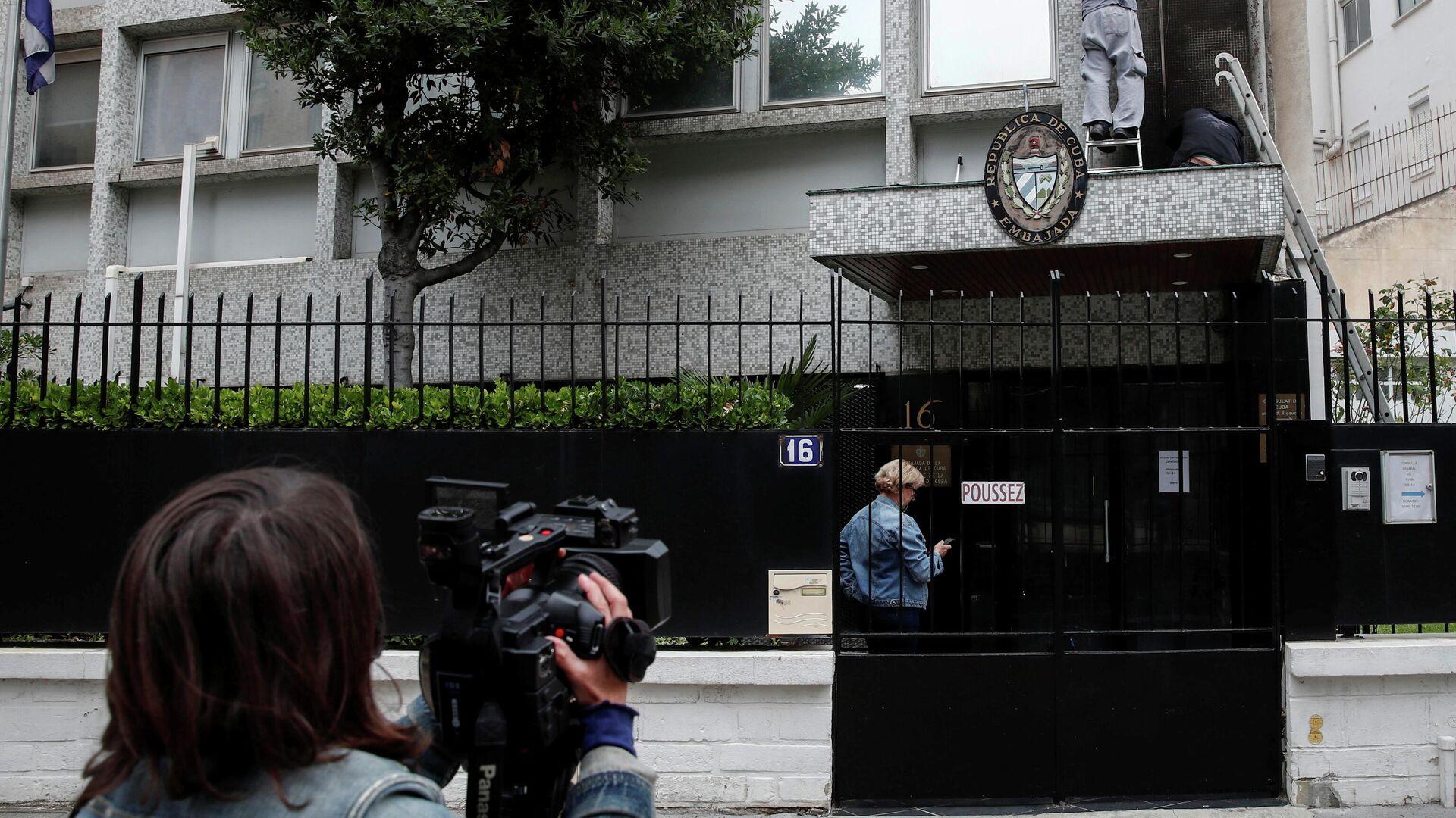 Lugar del ataque a la Embajada cubana en Francia - Sputnik Mundo, 1920, 27.07.2021
