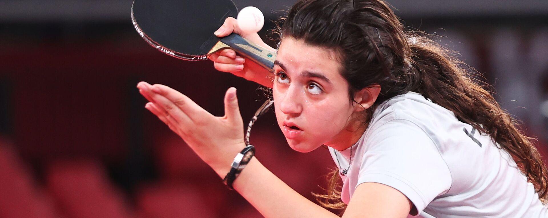 Сирийский игрок в настольный теннис Хенд Заза - Sputnik Mundo, 1920, 27.07.2021