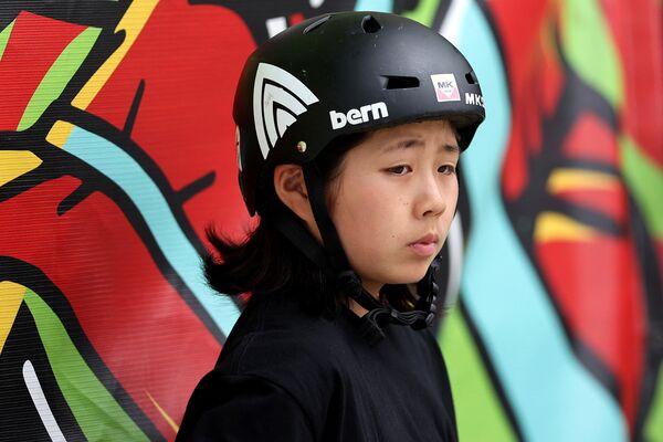 La skater japonesa Misugu Okamoto, de 15 años. - Sputnik Mundo
