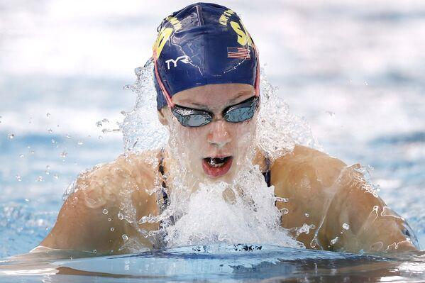La nadadora estadounidense Katie Grimes, de 15 años. - Sputnik Mundo
