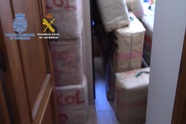 Mercancía incautada durante la operación policial en Algeciras (Cádiz) - Sputnik Mundo