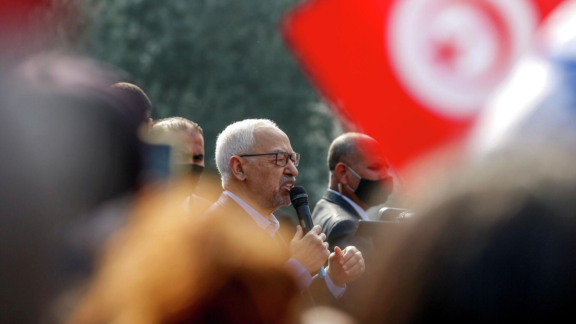 Rached Ghannouchi, portavoz del partido islamista Ennahda - Sputnik Mundo, 1920, 28.07.2021