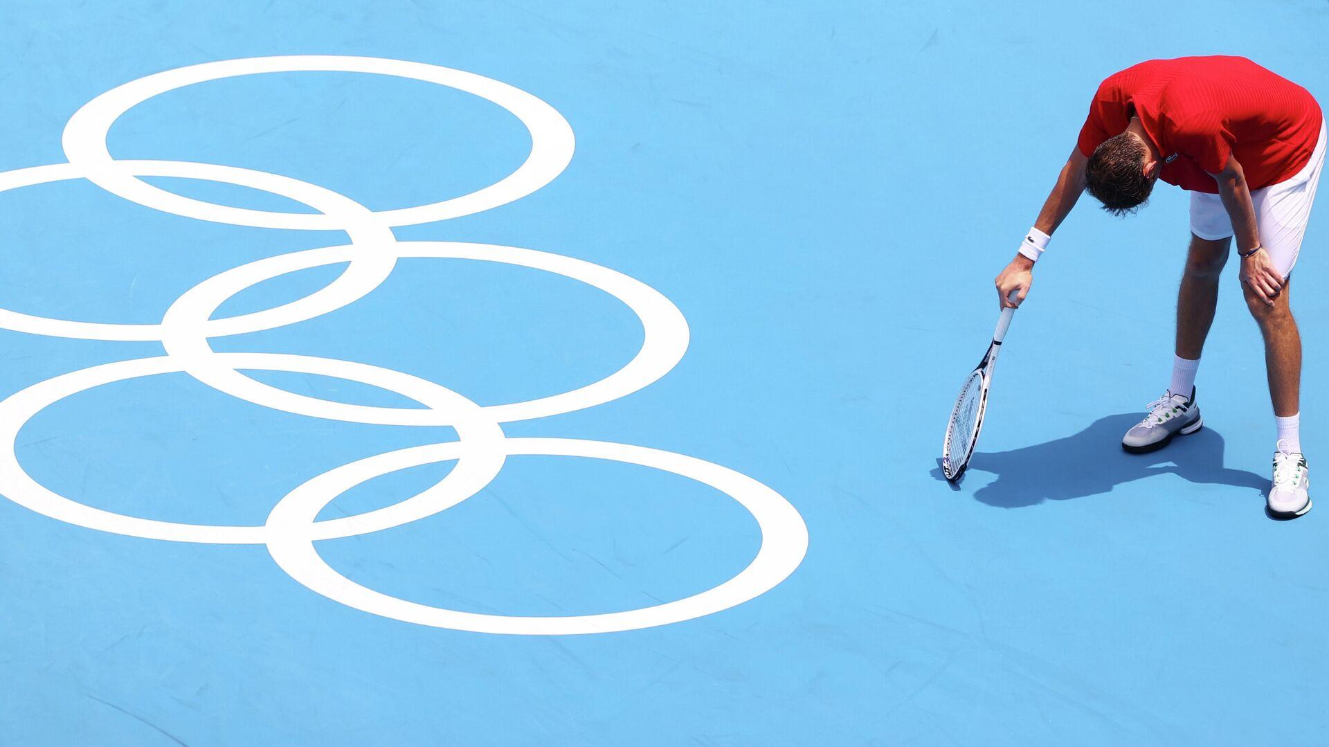 El tenista Daniil Medvedev durante su partido de octavos de final  - Sputnik Mundo, 1920, 28.07.2021