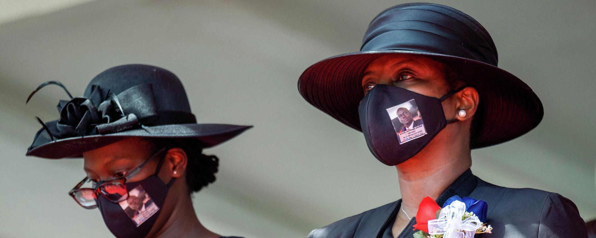 Martine Moise, viuda del expresidente de Haití Jovenel Moise, junto a su hija - Sputnik Mundo, 1920, 30.07.2021