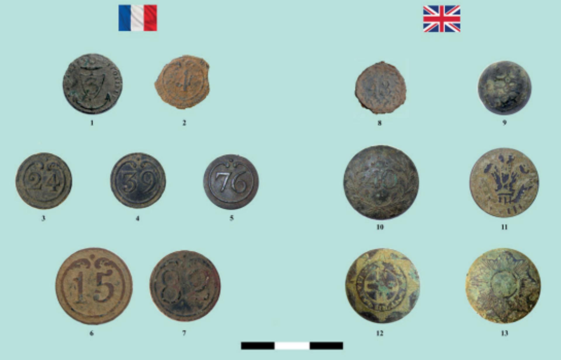 Botones de uniformes franceses y británicos  - Sputnik Mundo, 1920, 29.07.2021