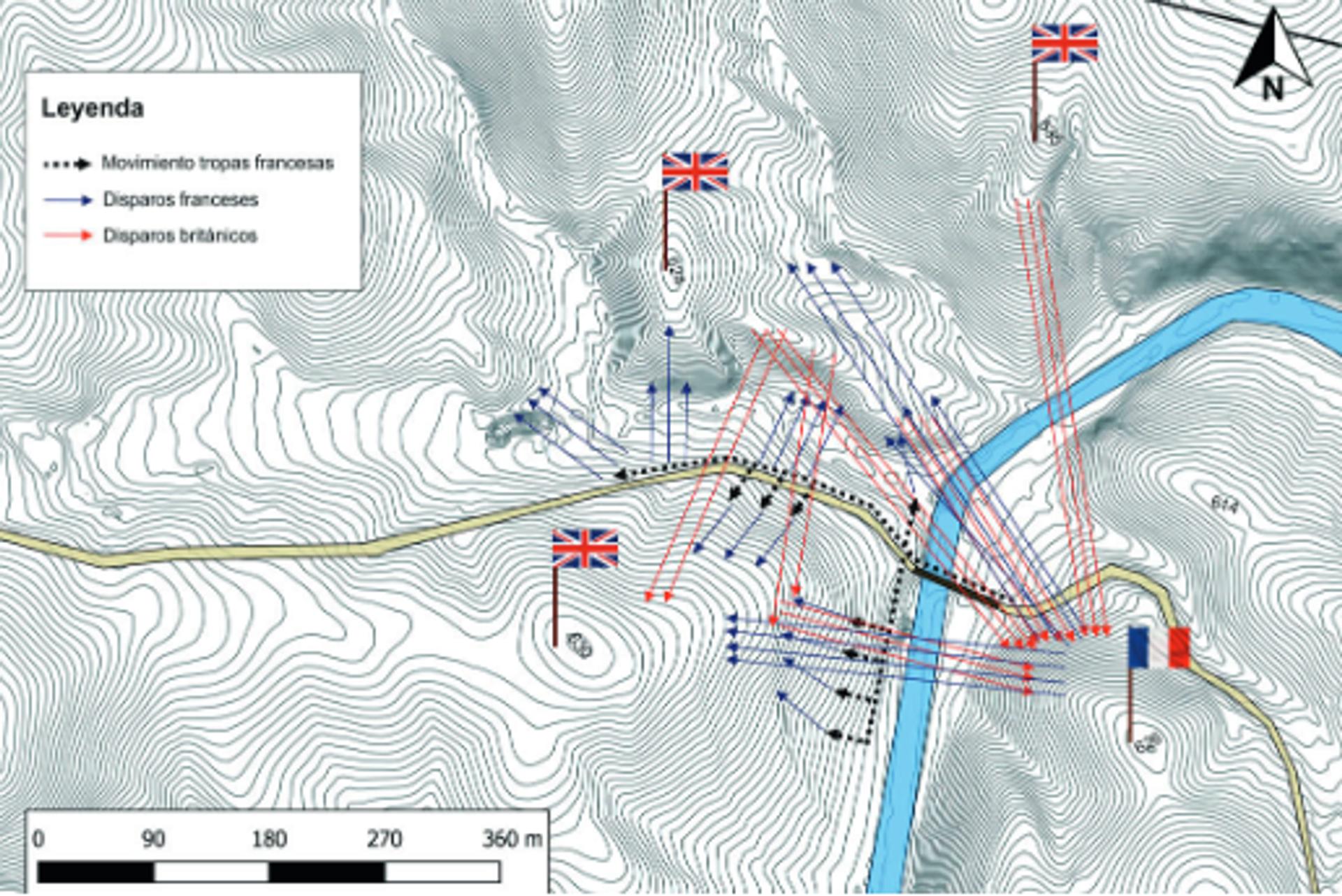 Mapa de las direcciones a las que apuntaban los fusiles británicos y franceses - Sputnik Mundo, 1920, 29.07.2021
