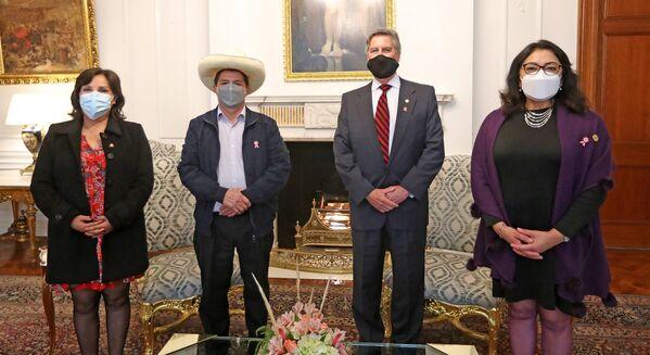 La residencia del presidente del Perú en la Casa de Pizarro cuenta con varios salones; en el segundo piso se encuentra el dormitorio presidencial y otras habitaciones para familiares e invitados. - Sputnik Mundo