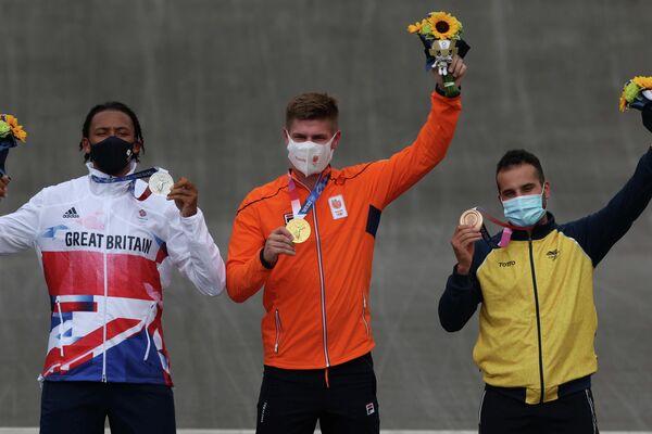 El colombiano Carlos Alberto Ramírez Yepes, bronce en ciclismo BMX Racing - Sputnik Mundo