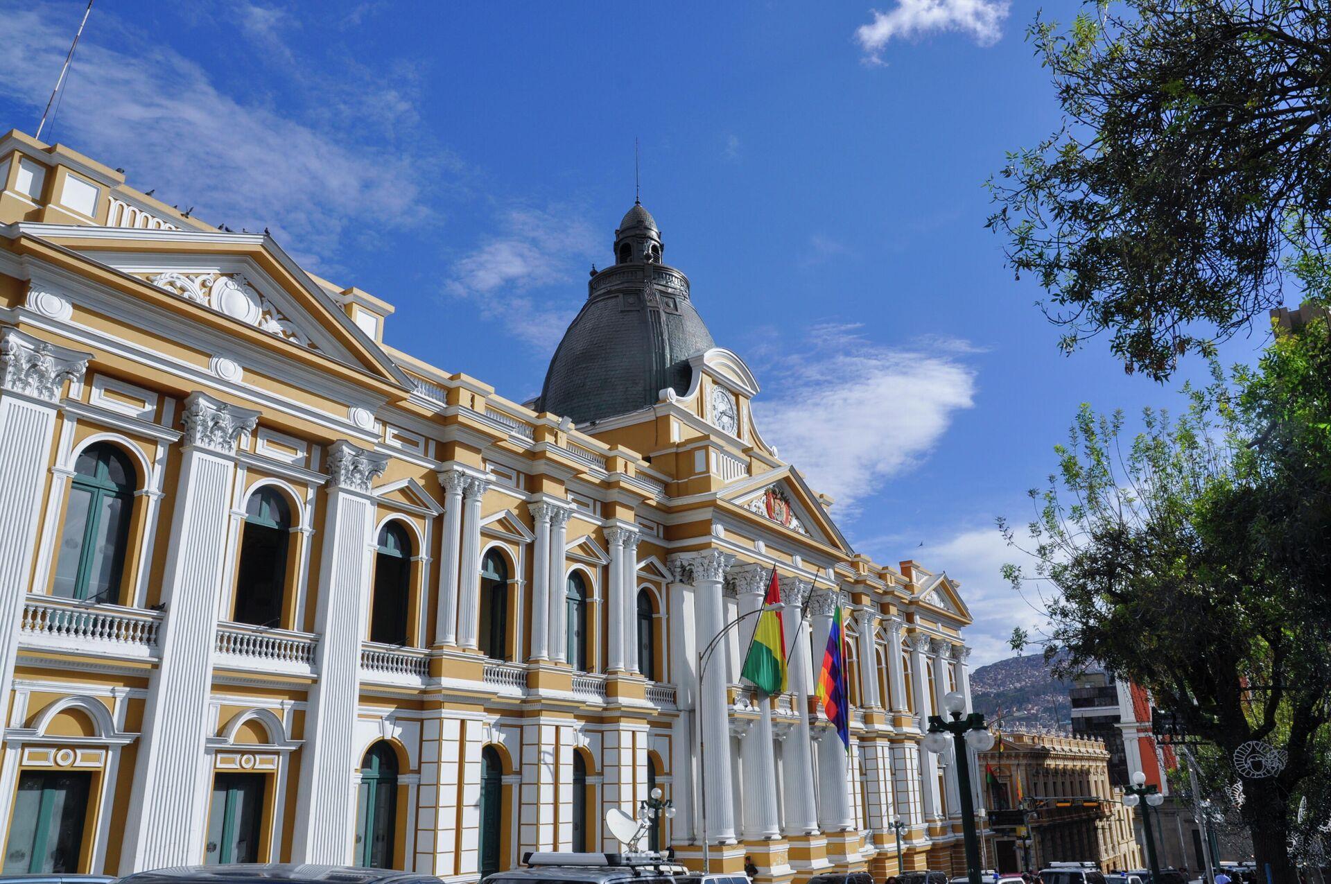Vista lateral del palacio de la Asamblea Legislativa de Bolivia - Sputnik Mundo, 1920, 30.07.2021