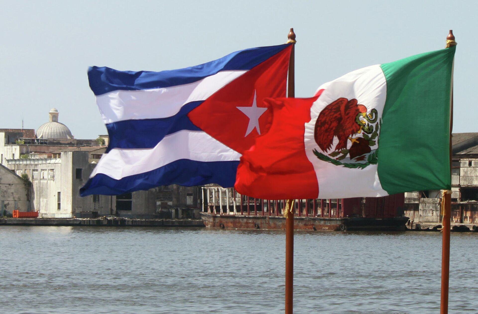 Banderas de Cuba y México - Sputnik Mundo, 1920, 31.07.2021