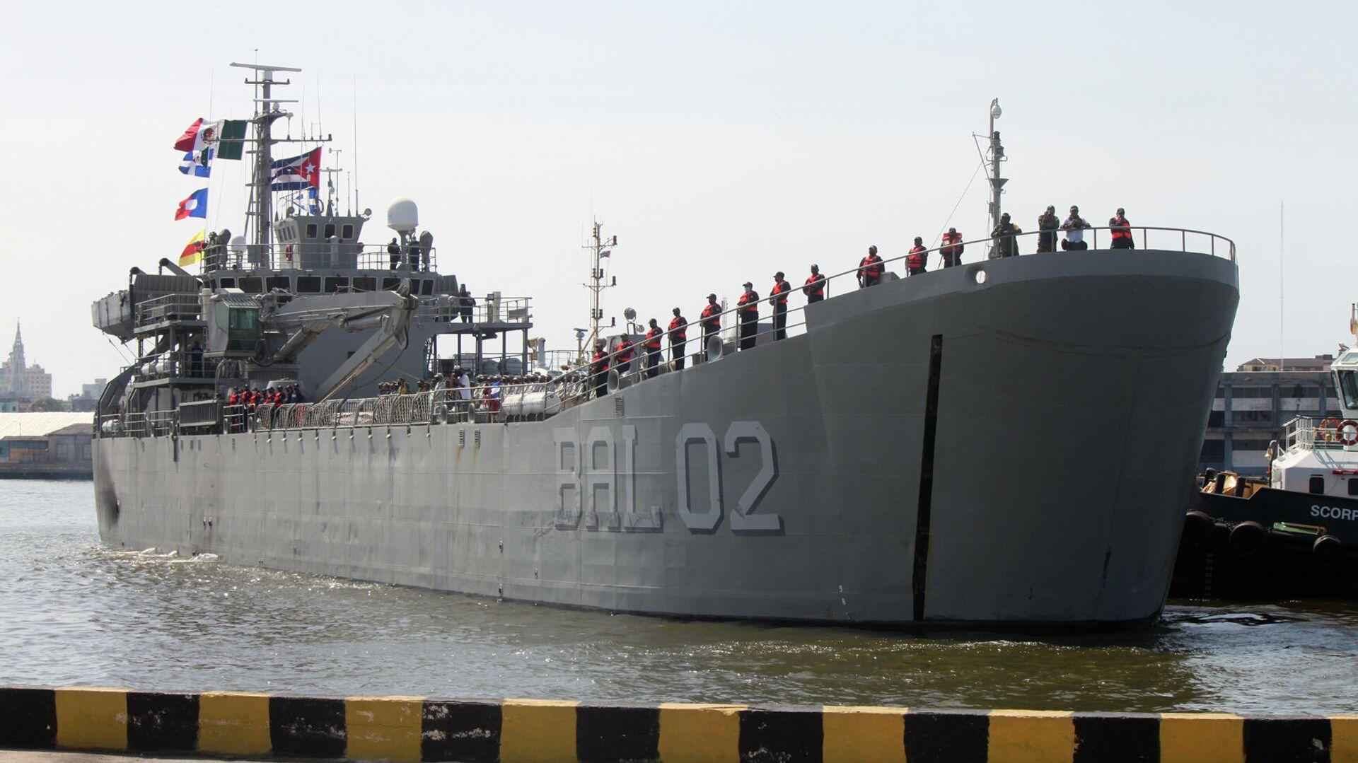 Buque Libertador, de la Armada mexicana entrando al puerto de La Habana con ayuda humanitaria - Sputnik Mundo, 1920, 31.07.2021