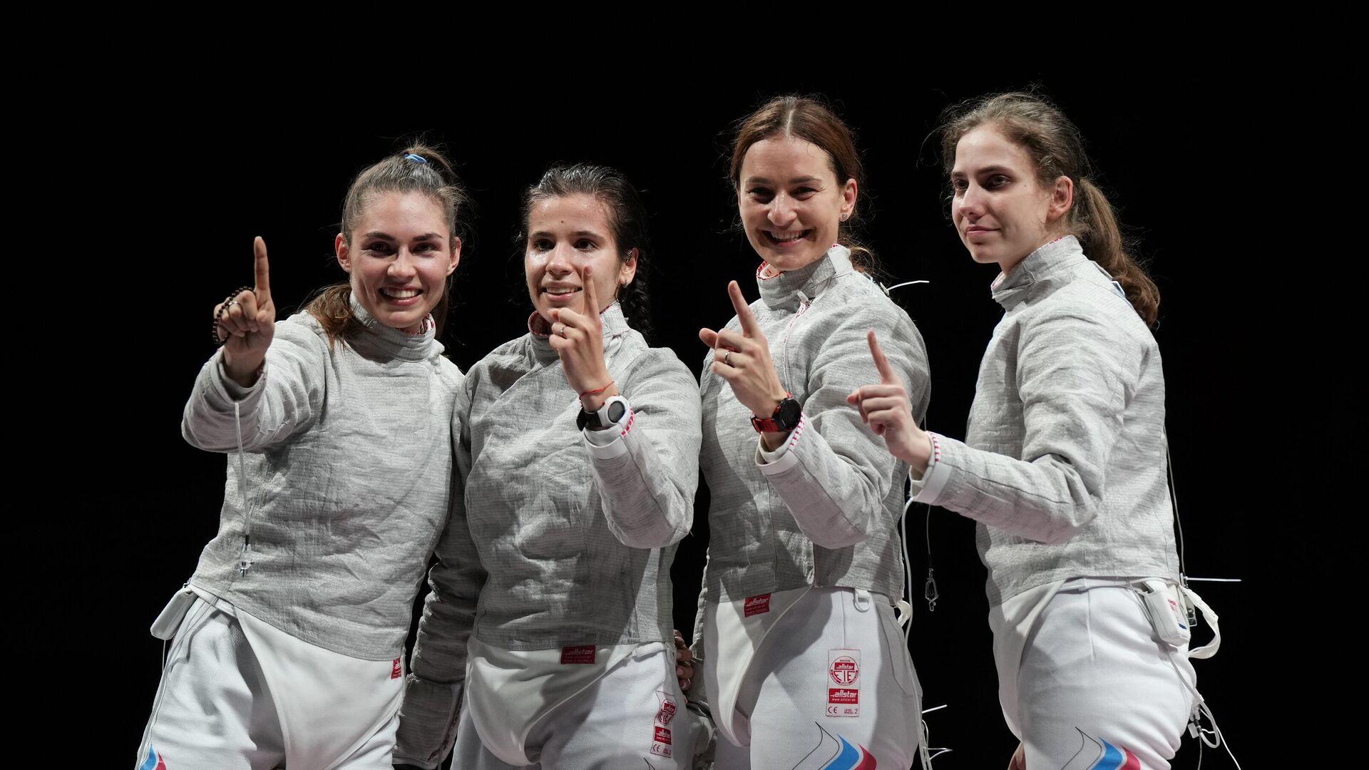Equipo femenino ruso de esgrima con sable - Sputnik Mundo, 1920, 31.07.2021