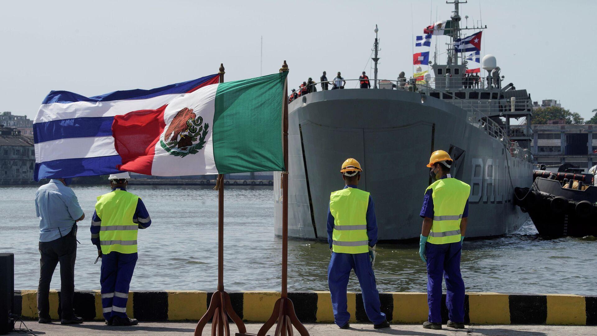 Banderas de Cuba y México - Sputnik Mundo, 1920, 01.08.2021