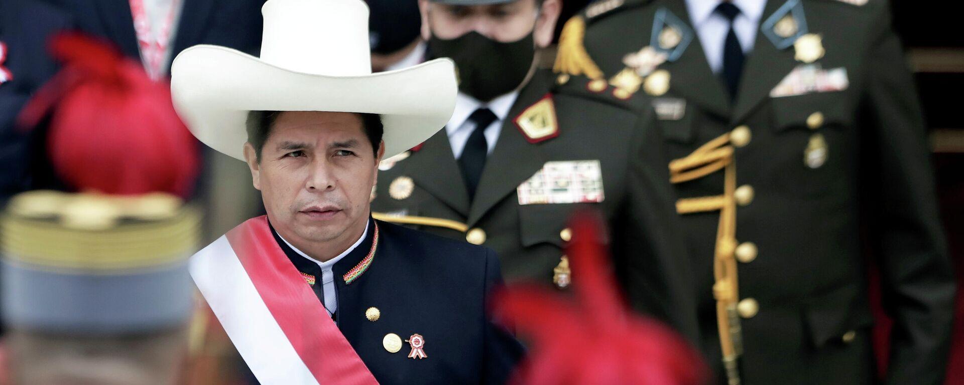 El presidente de Perú, Pedro Castillo - Sputnik Mundo, 1920, 02.08.2021