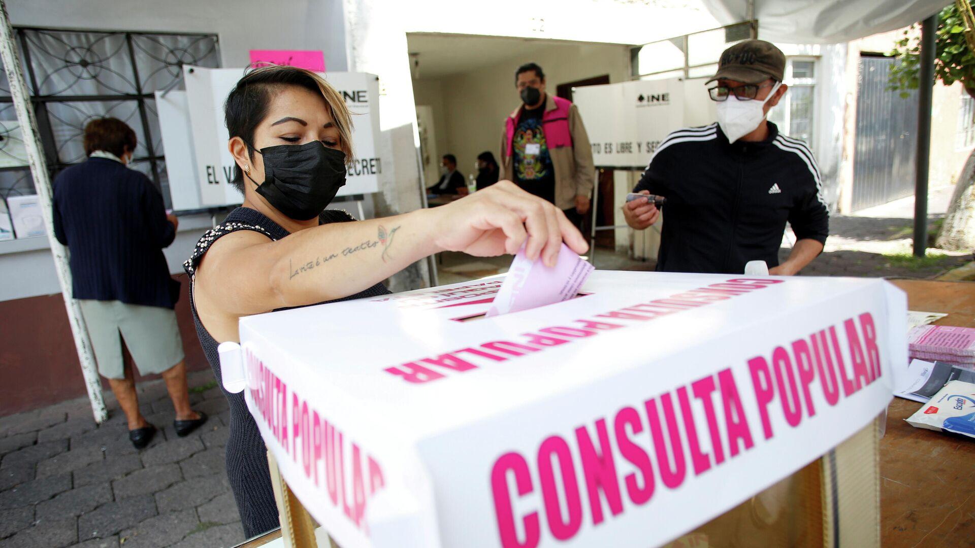 La primera consulta popular celebrada en México, el 1 de agosto de 2021 - Sputnik Mundo, 1920, 02.08.2021