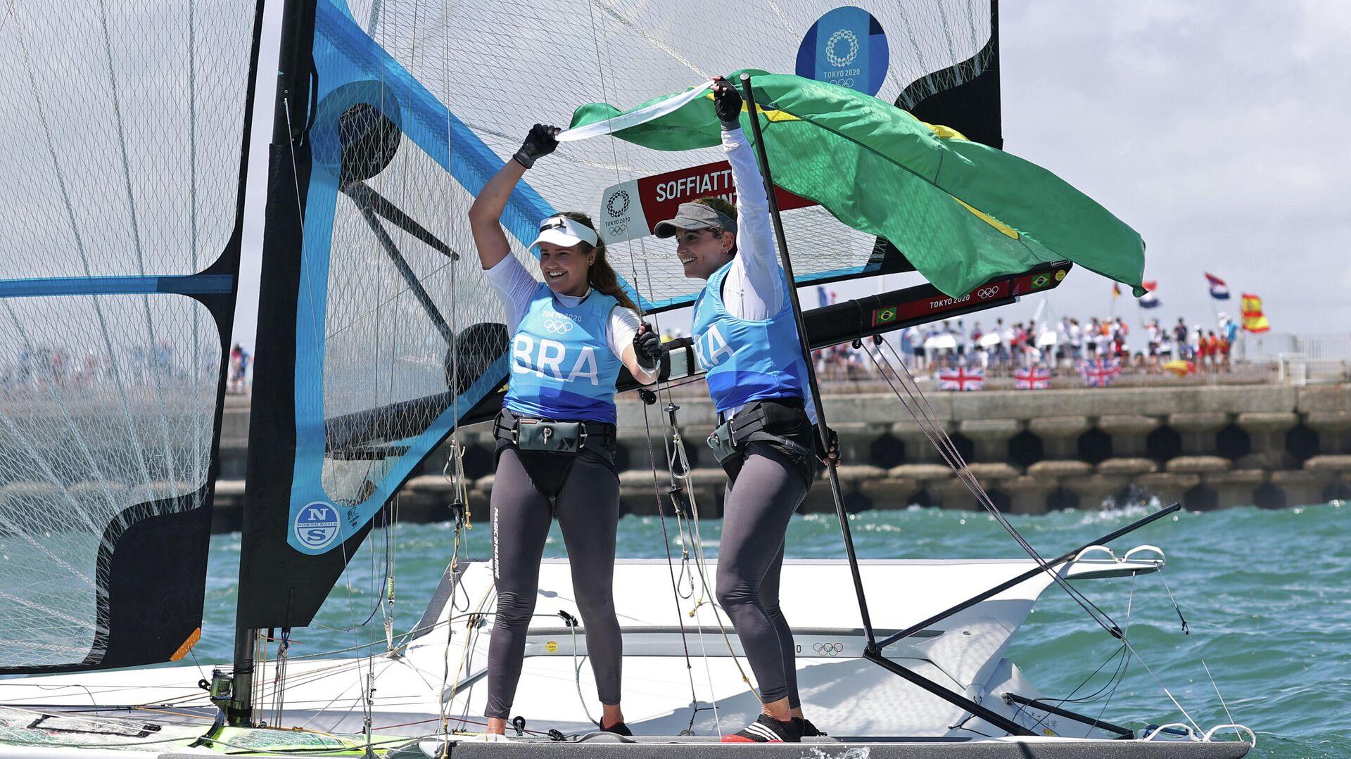 Martine Grael y Kahena Kunze, veleristas brasileñas - Sputnik Mundo, 1920, 03.08.2021