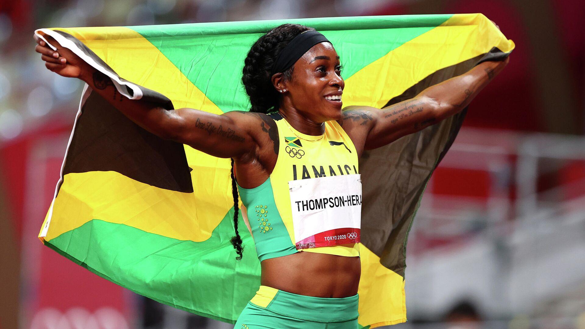 La atleta jamaicana Elaine Thompson-Herah, Tokio, el 3 de agosto de 2021 - Sputnik Mundo, 1920, 03.08.2021