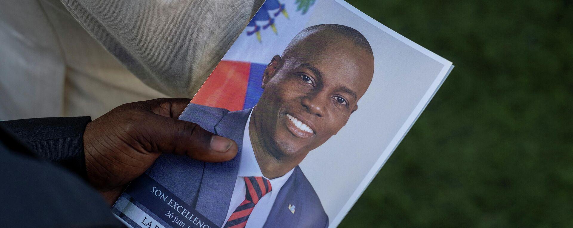 El retrato del asesinado presidente de Haití, Jovenel Moise - Sputnik Mundo, 1920, 13.08.2021