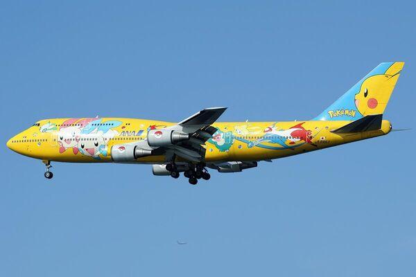 Un Boeing 747 de ANA con la librea del Pokemon - Sputnik Mundo