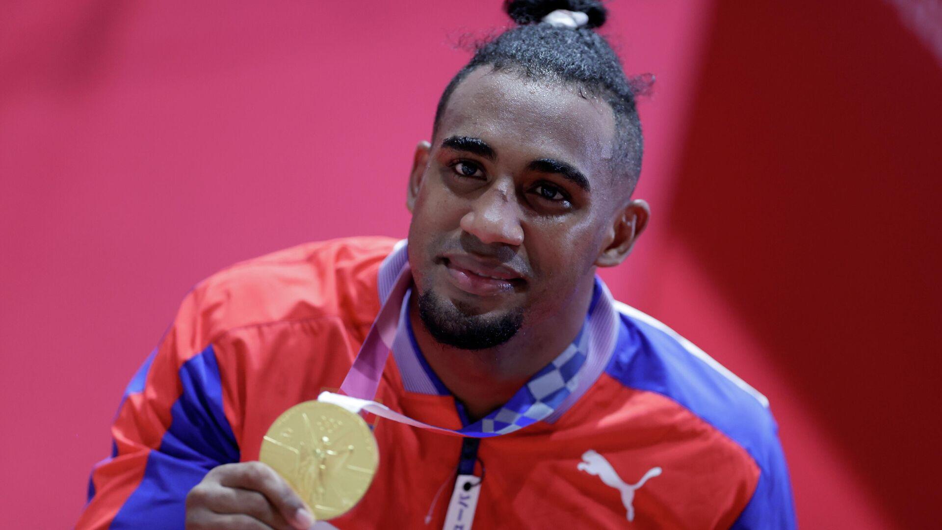 El boxeador cubano Arlen López, ganador de la medalla de oro - Sputnik Mundo, 1920, 04.08.2021