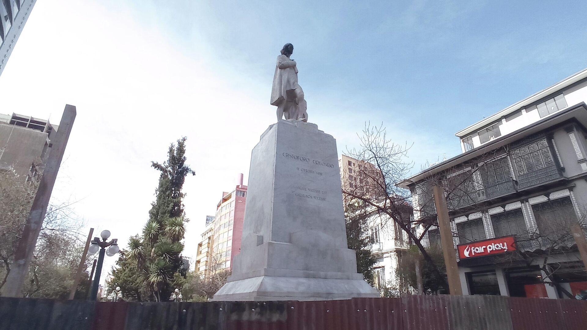 Estatua de Cristóbal Colón en La Paz, Bolivia - Sputnik Mundo, 1920, 05.08.2021