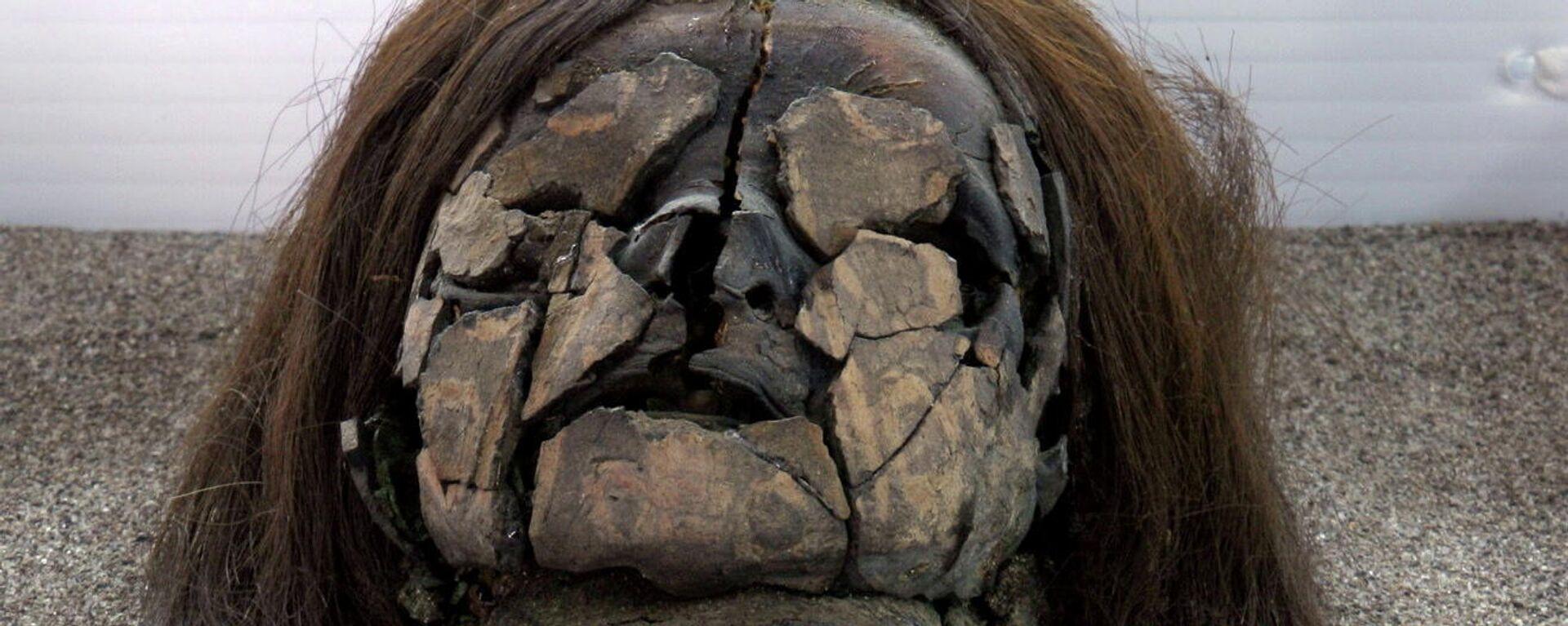 La Cultura Chinchorro, de más de 7.000 años de antiguedad, se destacó por su práctica de momificación artificial que reflejaba cualidades escultóricas y estéticas.  - Sputnik Mundo, 1920, 05.08.2021