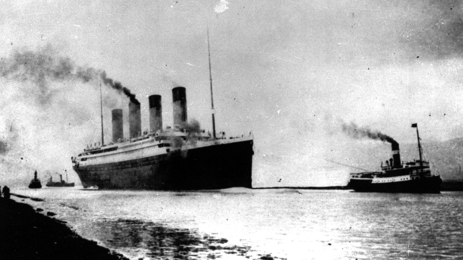 El Titanic sale del puerto de Southampton (Reino Unido) en su primer viaje por el Atlántico - Sputnik Mundo, 1920, 05.08.2021