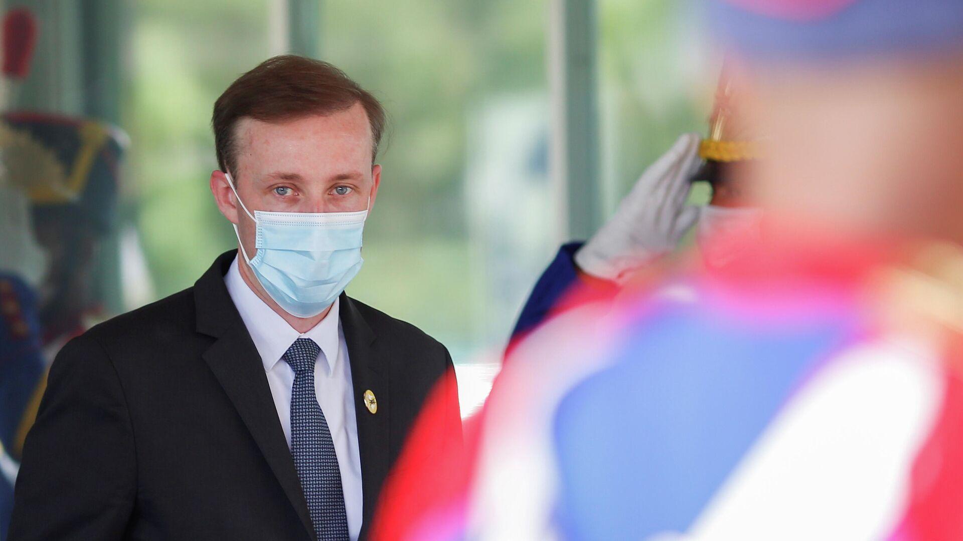 El asesor de la Casa Blanca para la seguridad nacional, Jake Sullivan, durante su visita a Brasil en 2021 - Sputnik Mundo, 1920, 05.08.2021