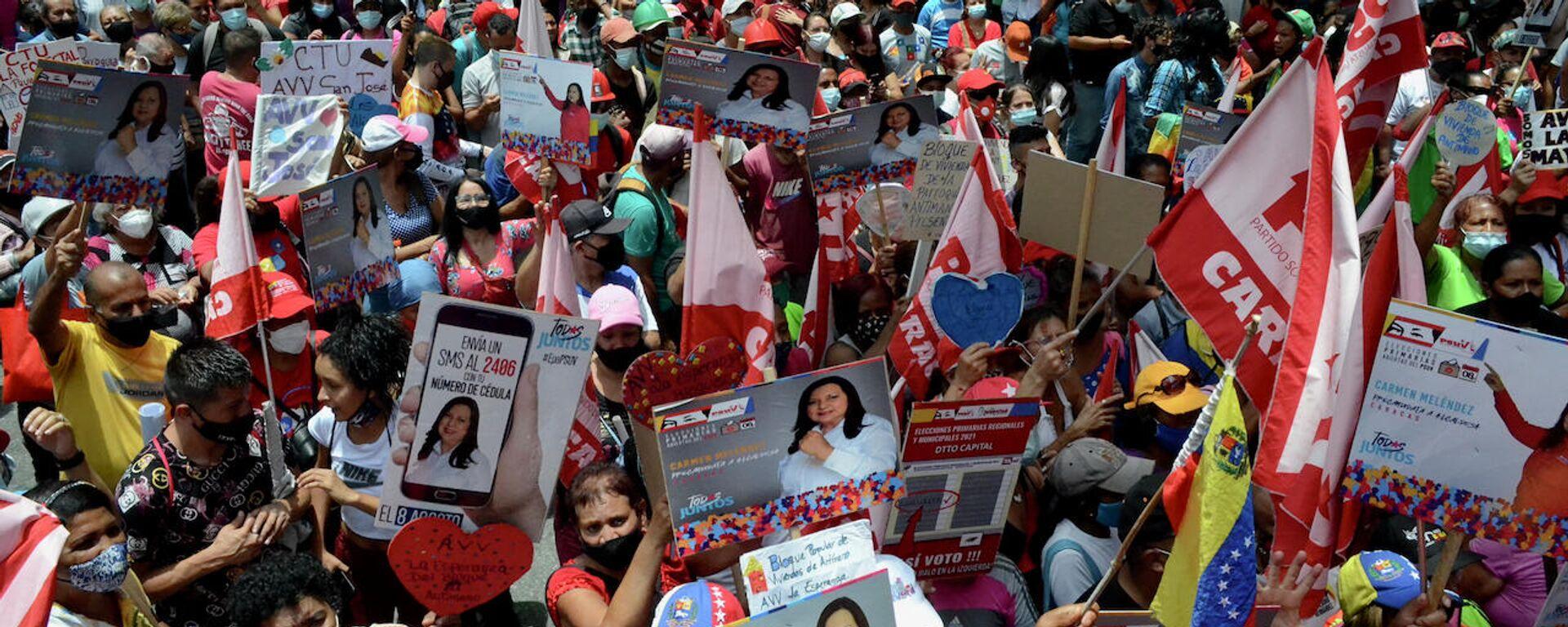 Militantes del Partido Socialista Unido de Venezuela se movilizaron en Caracas  - Sputnik Mundo, 1920, 06.08.2021
