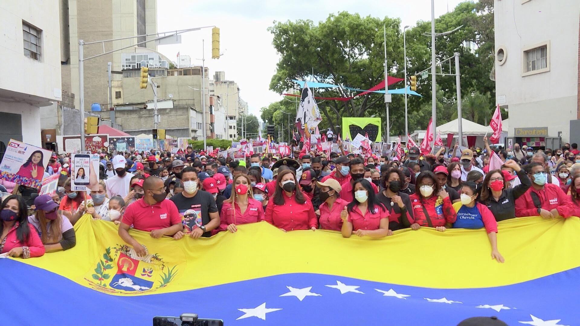 Militancia del PSUV se movilizó con sus precandidatos por el centro de Caracas - Sputnik Mundo, 1920, 07.09.2021