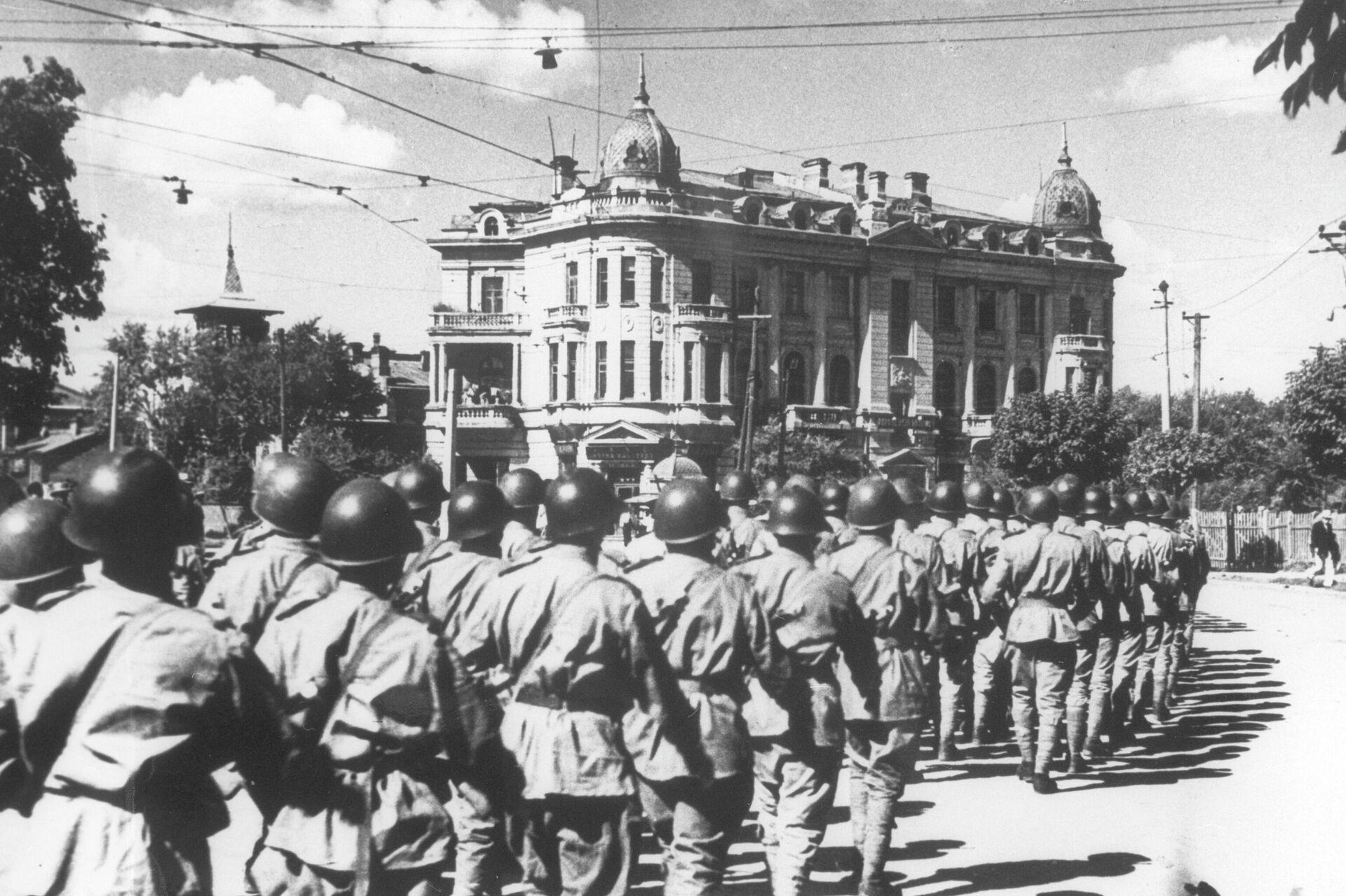 Soldados del Ejército Rojo en Manchuria - Sputnik Mundo, 1920, 06.08.2021
