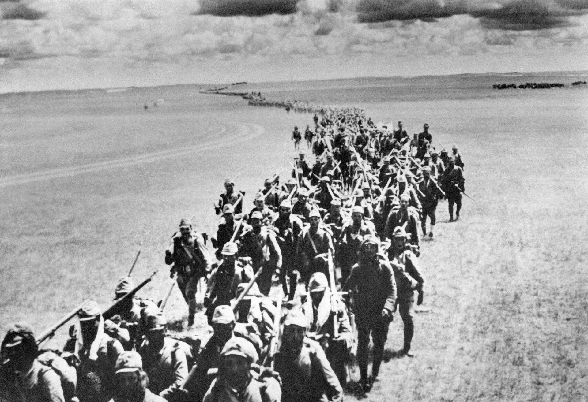 Soldados japoneses en Manchuria - Sputnik Mundo, 1920, 06.08.2021