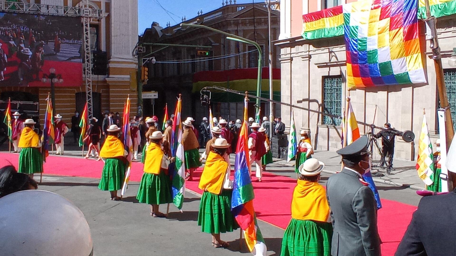 Celebraciones por los 196 años de la independencia de Bolivia en la Plaza Murillo, en La Paz - Sputnik Mundo, 1920, 06.08.2021